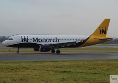 Monarch Airlines A320-214 G-ZBAU taxiing at MAN/EGCC (AviationEagle32) Tags: manchester man manchesterairport manchesteravp manchesterairportatc manchesterairportt1 manchesterairportt2 manchesterairportt3 manchesterairportviewingpark egcc cheshire ringway ringwayairport runway runwayvisitorpark runway23r unitedkingdom uk airport aircraft airplanes apron aviation aeroplanes avp aviationphotography avgeek aviationlovers aviationgeek aeroplane airplane planespotting planes plane flying flickraviation flight vehicle tarmac monarch monarchairlines flymonarch zb mon airbus airbus320 a320 a320200 a322 a320214 gzbau