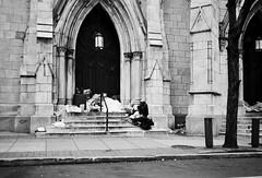 R1-011-4 (David Swift Photography) Tags: davidswiftphotography philadelphia centercityphiladelphia churches doors doorway homeless steps 35mm film ilfordxp2 olympusstylusepic