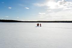 Going somewhere (VisitLakeland) Tags: outdoor snow winter people finland metsäkartano day light sunny ulkoilu talvi lumi