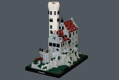 Lichtenstein Castle (soccersnyderi) Tags: marchitecture architecture real world building replica lego moc creation model design lichtenstein castle germany wall base