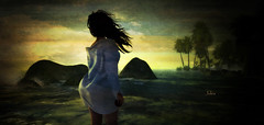I miss You (Jules Richland) Tags: love beauty ocean rocks sunset portrait girl soulmate sl secondlife home him argrace dolly ro reveobscura husband catwa fay lona quenby his wine redwine dark missing need