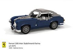 Ferrari 166 Inter - Stabilimenti Farina - 1949 s/n 037S (lego911) Tags: ferrari 166 inter stabilimenti farina pininfarina 1949 1940s classic italy italian berlinetta coupe v12 auto car moc model miniland lego lego911 ldd render cad povray sn037s 037s 037 sn foitsop