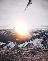 Sunset in the mountains #sunsetphotography #berge #sonnenuntergang (volkerrastel) Tags: peak mountain mountaineering hill top wandern hiking mountainhiking
