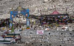 High altitude Buddhism (bag_lady) Tags: buddhisttemple buddhism prayerflags changla ladakh india jammukashmir buddhist spiritual pangonglakeroad