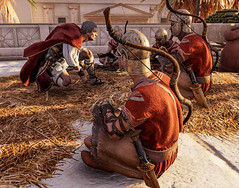 Caesars confers with his troops in ancient Alexandria in Assassin's Creed Origins Discovery Tour (mharrsch) Tags: ancient alexandria egypt ptolemaicperiod assassinscreedorigins discoverytour mharrsch caesar warrior soldier roman