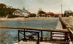 Ocean Baths at Forster, N.S.W. -  circa 1940 (Aussie~mobs) Tags: vintage australia newsouthwales oceanbaths pool forster 1940