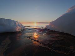Last remainings of winter (Jarno Nurminen) Tags: porkkala kirkkonummi finland sunset shore cliff sea spring winter ice