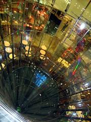 Spiral Descent (Heaven`s Gate (John)) Tags: galeries lafayette berlin architecture interior glass vortex perspective modern johndalkin heavensgatejohn