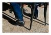 Flamenco Dancer (TooLoose-LeTrek) Tags: feet shoe chair shadow vernacular ordinary blue