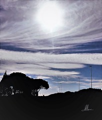 CORPORE NUBES (giovanni.muscara28) Tags: fotografia photography clouds sky cielo nuvole landscape skyscape natura nature italia wonderful good cool nofilter magic road strada sun sole luce light black color blue blu giovannimuscarà