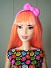 Pink bow (Deejay Bafaroy) Tags: barbie fashionistas doll puppe 60 patchworkdenim asianmold mattel portrait porträt bow schleife pink rosa red rot yellow gelb green grün blue blau