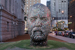 Douglas Coupland; Gumhead (2014, steel, milled foam, resin, gum,); Exhibition: everywhere is anywhere is anything is everything at the Vancouver Art Gallery (2014). Photo by longzijun. (artjouer) Tags: douglascoupland contemporaryart canadianartist canadianart vag vancouverartgallery everywhereisanywhereisanythingiseverything artjouer longzijun sculpture