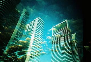 Lomo – UK sky vs Dubai skyline