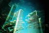 Lomo – UK sky vs Dubai skyline (lomomowlem) Tags: 35mm analogue crossprocess colourstreambrighton clouds doubleexposure expiredfilm kodakelitechrome lomo lomography lca lofi multipleexposure skyscraper xpro xprocess