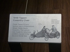 Coventry Transport Museum - Rebuilding Coventry 1945 to 1950 - 1948 Tippen Coventry Chair - sign (ell brown) Tags: coventry westmidlands england unitedkingdom greatbritain halesst millenniumplace millenniumsquare poolmeadow coventrytransportmuseum museumofbritishroadtransport transportmuseum culturecoventry rebuildingcoventry1945to1950 motorbike motorcycle sign 1948tippencoventrychair tippencoventrychair franktippensonsfactory