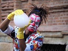 Le Bayou at Turin (VauGio) Tags: bayou turin torino artistidistrada streetartist street strada clown olympus omd em10