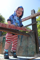 Up (quinn.anya) Tags: paul toddler adventureplayground smile climbing