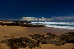 Bunga Beach Rocks (jack eastlake) Tags: formations cloud clouds polarizer polariser lee tathra bega bermagui murrah nsw coast south far varied geology surfing wildbeachaus wild unpatrolled surf beach bunga