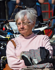 Market Day 18 - Having a rest (Row 17) Tags: england worcestershire worcester people women woman candid portrait olympus female mature streetscene streetlife streetfashion