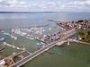 Yarmouth Harbour (John Ambler) Tags: freshwater england unitedkingdom gb yarmouth harbour photo taken with dji mavic pro drone john ambler johnambler aerial photography photographs