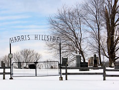 Harris Hillside Cemetery (pegase1972) Tags: quebec qc québec winter hiver neige snow cemetery easterntownships estrie canada fence gate graves tombs tombstones graveyard gravestone licensed exclusive getty