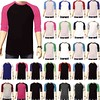 3/4 Sleeve Plain Baseball Raglan T-Shirt Tee Mens Sports Team Jersey 30+ Colors (laplace777) Tags: baseball jersey plain raglan shirt sleeve sports