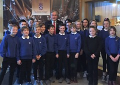 With third and final group of Kings Meadow pupils