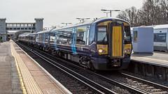 375908 (JOHN BRACE) Tags: 2003 bombardier derby built electrostar class 375 emu 375908 seen orpington station southeastern blue livery