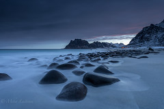 Early morning in Norway (Mika Laitinen) Tags: canon5dmarkiv europe lofoten norway norwegiansea scandinavia uttakleiv beach cloud cold colorful dawn daybreak dreamscape landscape longexposure mountain nature ocean outdoors rock sea shore sky sunrise water winter nordland no visipix visipixcollections