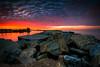 Fire in the Sky (ADW44) Tags: sunrise sunset beach orangecounty oc california cali southern rocks pacificocean leefilters