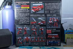 DSC_8030 (Quantum Stalker) Tags: takara tomy hasbro transformers masterpiece g1 inferno firetruck fuso t951 extinguisher communicator elegant hose animation cartoon chromed