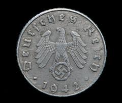 Deutsches Reich Nazi German 5 Reichspfennig zinc coin from 1942 during World War Two (Michael J. Barritt) Tags: deutsches reich ww2 coin money nazi german europe zinc reichspfennig 1942 worldwartwo