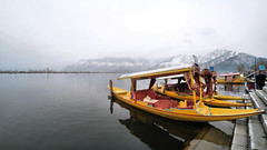 Dal Lake - A Winter Landscape (pallab seth) Tags: dallake lake kashmir srinagar india nature winter cold landscape boat fishermen charchinar charchinari ropalank rupalank vehicle travel adventure tour tourism shikaras