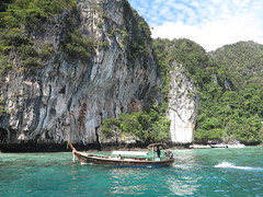 Long Boat and Cliffs (Chris Hunkeler) Tags: longboat