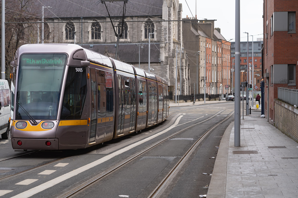 DOMINICK STREET DUBLIN [TRAMS AND TRACKS]-137847