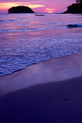 "Kata Beach 509 (Phytophot) Tags: beauty beautiful remote ""nikkorzoom3570"" ""nikonf3"" peaceful deserted waves colour island sunset beach 1981 phuket kata thailand smileonsaturday preciouspurple purple"