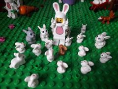 Lego bunny & chicken Easter MOC (BrickWorldPL) Tags: lego legomoc easter eggs bunny chickens chickencoop
