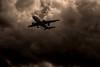 final destination... unknown... (Alvin Harp) Tags: airplane jetliner transportation stormclouds cloudsstormssunsetssunrises saltlakecity martendropyard march 2018 sonyilce9 fe70200mmf28 gmoss2x monochrome bwclouds bw blackandwhite sepia flight alvinharp
