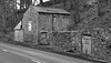 Old Barn on the A6 Buxton Road at Bakewell. (wontolla1 (Septuagenarian)) Tags: old barn black white blackwhite mono monochrome bakewell derbyshire peak district a6 walking walk hiking hike forgotten abandoned derelict scruffy ruin samsunggalaxys6edge