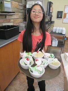 Serving Desserts on St. Patrick's Day