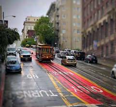 Cable Car - San Francisco, CA (vwcampin) Tags: iphoneography iphoneographer iphoneology iphonology california cars trolleycar trolley cablecar steep hilly hill sanfrancisco