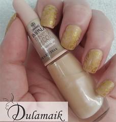 Desafio das 31 Unhas: 15 - Estampa Delicada (Dulamaik) Tags: impala carimbo nude dourado lafemme fosco