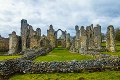 The ruins of Castle Acre Abbey (Geordie_Snapper) Tags: bactonholiday canon1635mm canon7d2 castleacre castleacreabbey eastanglia guardrobetoiletblock landscape norfolk overcast spring england unitedkingdom gb