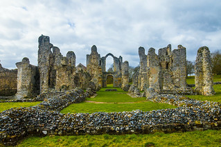 The ruins of Castle Acre Abbey