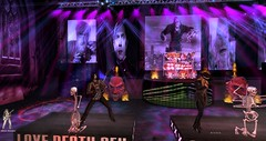 Rob Zombie 15-April-2018 @ Bloody Misery (TRC, Live Tribute Band in Second Life®) Tags: robzombie piggyd john5 gingerfish horror dracula frankenstein american music heavymetal secondlife sl live 1965 65 rock thunder consert nightmare concert dead girl superstar the lords salem pussy liquor foxy monster red hot