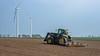 Spring cultivation (RIch-ART In PIXELS) Tags: frelenberg deutschland übachpalenberg fujifilmxt20 xt20 field windmill tractor sky farmer landscape soil windturbine