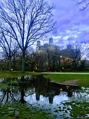The Beresford in reflection Central Park April 2018 (dannydalypix) Tags: aprilshowers april gotham manhattan newyorkcity nyc centralpark theberesford