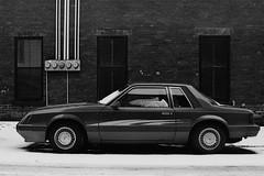 (<mmb>) Tags: 35mm agfa analog auto automobile bw blackwhite car coupe film ford fox grey ilford lx mustang newbrunswick saintjohn selectronic3 sfx200
