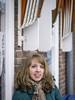 Liset, Amsterdam 2018: Against the façade (mdiepraam) Tags: liset amsterdam 2018 ndsm portrait pretty dutch blonde girl naturalglamour façade scarf coat