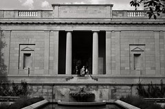 Rodin Museum (David Swift Photography) Tags: davidswiftphotography philadelphia pennsylvania rodinmuseum museums architecture fountains centercityphiladelphia 35mm nikonf ilfordxp2